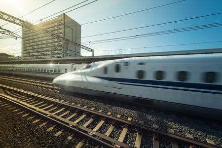 high speed japanese modern train called shinkansen