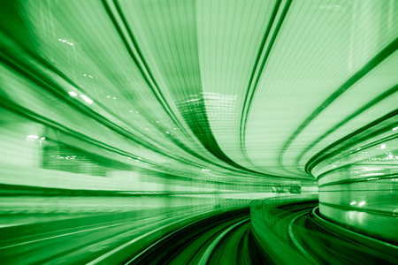 speed green concept in Tokyo monorail track
