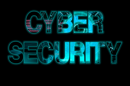 beholder: cyber security laser writing on a black background