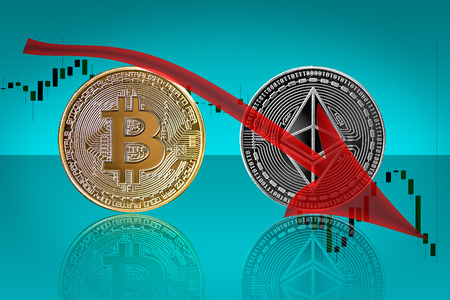 Bearish trend in cryptocurrency market of bitcoin and ethereum