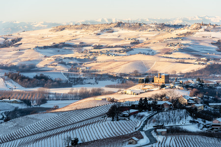 mountains in northern italy, langhe region, piedmont