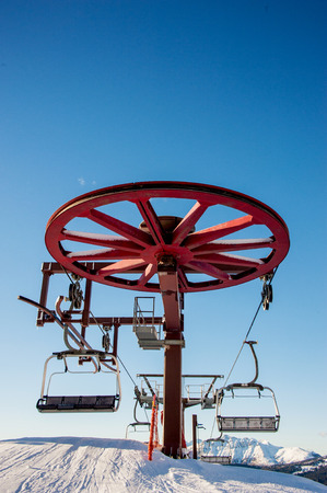 chairlift detail and operating mechanism