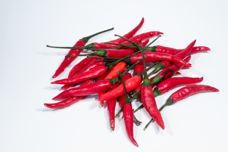 chilly: fresh hot chilly peppers Stock Photo