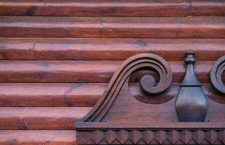 particolare: Nizza particolare di una finestra geometrica di legno Archivio Fotografico
