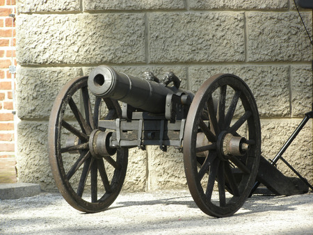 gettysburg battlefield: Old Cannon outside a Manor in Poland Stock Photo