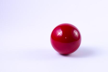 billard: A red billard ball on white background