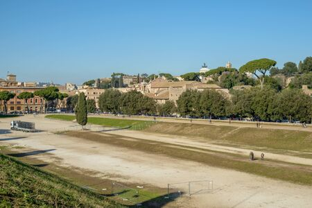 massimo: the arena called Circo Massimo in Rome where in ancient age was the horses race