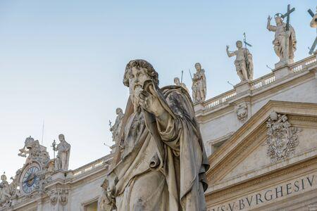 pietro: A statue in San Pietro square, Rome Italy, statue