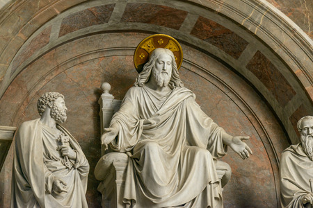 pietro: Rome, Italy, - January 04, 2015: Inside the famous San pietro church in Rome italy Editorial