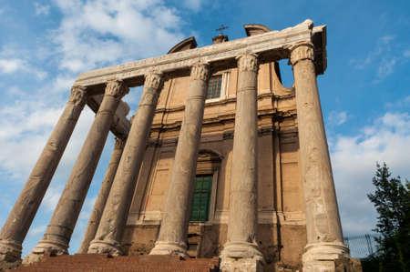 Roma: landscape of roman forum in roma italy