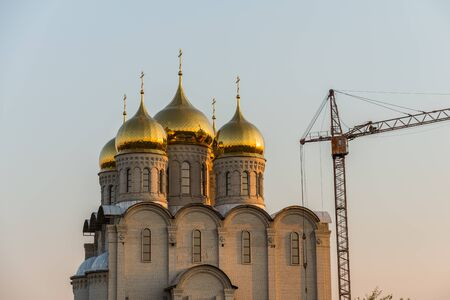 religiosity: Big Orthodox church under construction in kharkiv