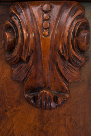 fine handcraft inlay on a wood furniture