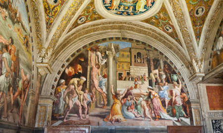 fresco: fresco in a church in rome italy