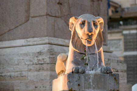 piazza: famous piazza del popolo square in rome italy