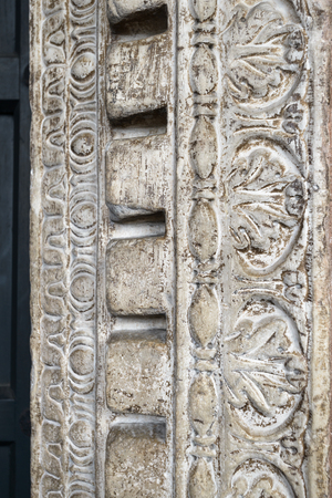 emboss: Emboss of an ancient door in the church of Santa Maria in Cosmedin in Rome, Italy Stock Photo