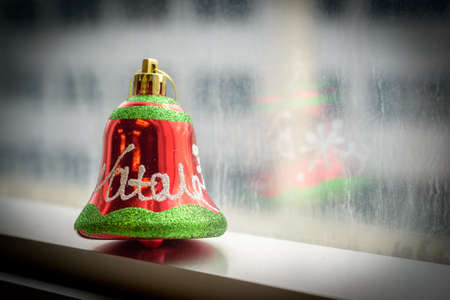 little bell: nice and colorful little decorations for Christmas a bell Stock Photo