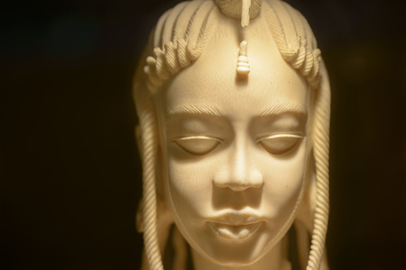 imperialism: ivory chinese statuette, requisitioned to smugglers of ivory