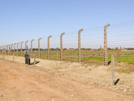 auschwitz: AUSCHWITZ - AUGUST 20:  the camp Auschwitz near the Oswiecim city in Poland in August 20, 2009 Editorial