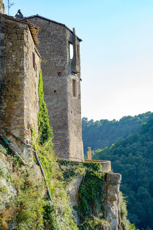 ghost rock: A very ancient village near Rome called Calcata on the peack of the mountain