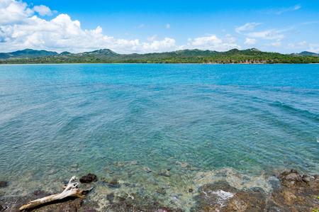 filipino people: ocean sea in dominican republic in caribbean