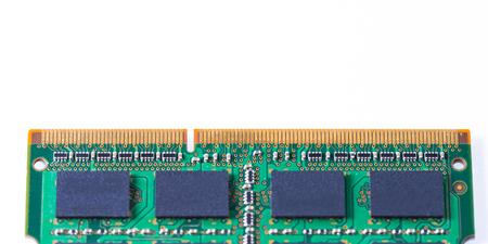 Closeup of a memory Ram chip module