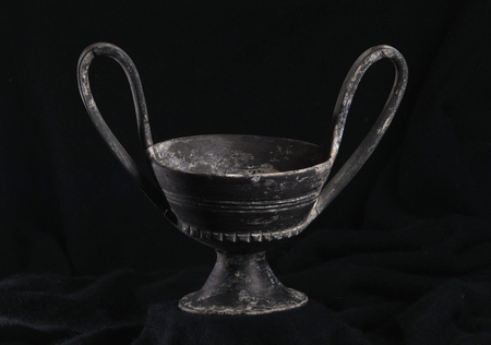 etruscan: bucchero, ancient Etruscan vase