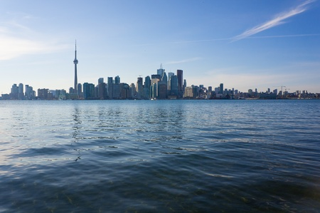 Skyline of Toronto, Canada, from the lake Ontario. photo