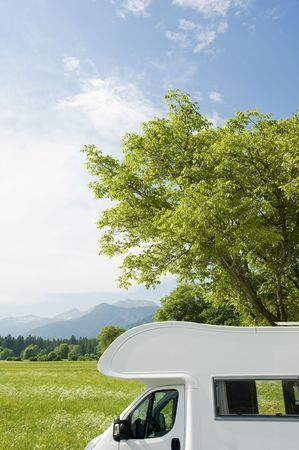 Caravan in a park photo