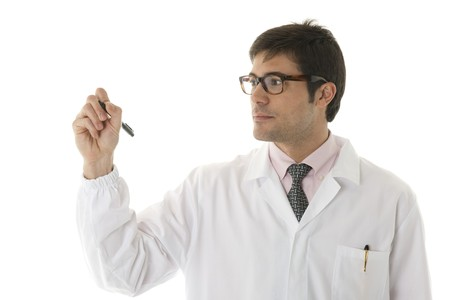 Doctor writing on copy-space Stock Photo - 7112544