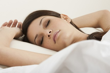 one young woman only: Beautiful young woman sleeping