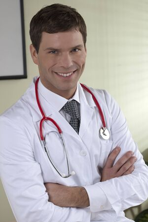 young male doctor: Portrait of a young male doctor