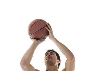 Basketball player, isolated on white Stock Photo - 7317023