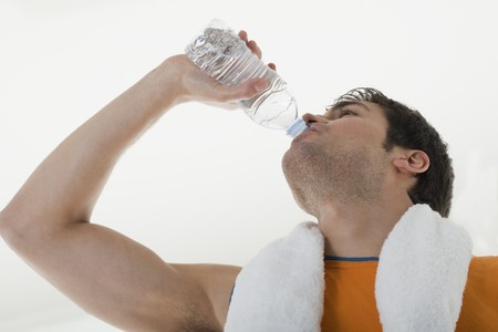 recreational sports: Sportsman drinking water