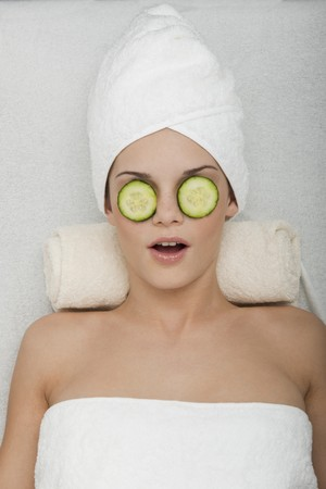 Eyes Treatment with Cucumber photo