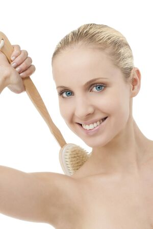 scrubbing up: Beauty with bath brush