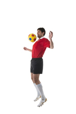 mondial: SoccerFootball player, isolated on white