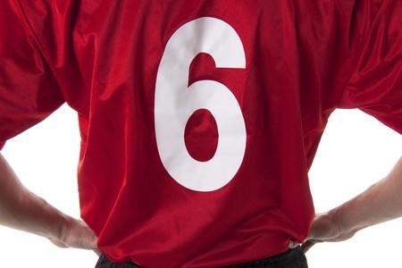 mondial: SoccerFootball player t.-shirt, close-up