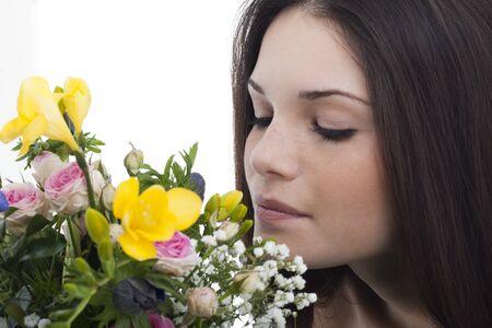 Belleza con olor a flores