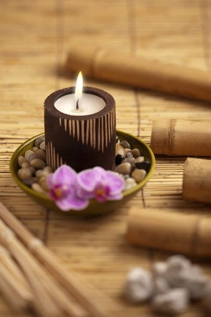 scented candle: Spa still life