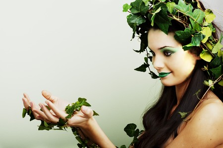 Beautiful mother nature presenting your product or concept Stock Photo - 7417682