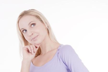 mujer pensativa: Mujer pensativa