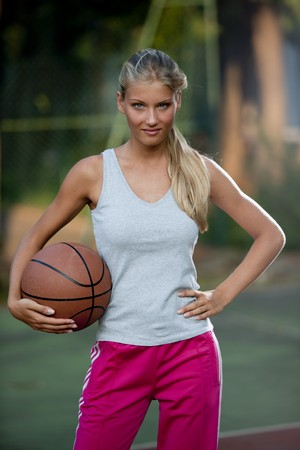 Portrait of a female basketball player photo