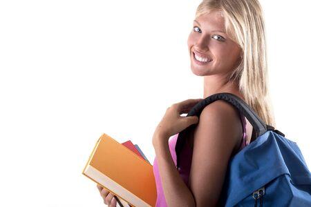 Beautiful female student photo