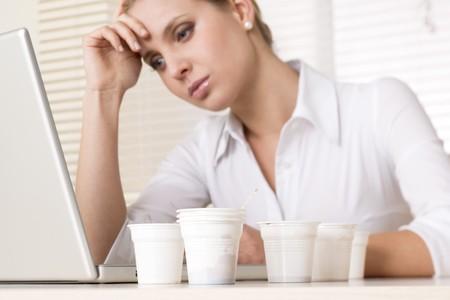 StressedTired businesswoman photo