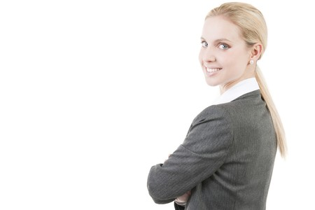 Portrait of a beautiful smiling businesswoman photo