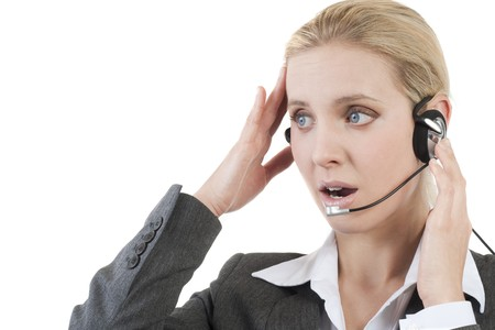 Worried customer service representative photo