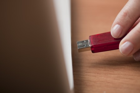 usb2: Inserting a usb drive into a laptop computer