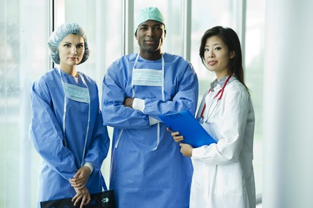 Multi-ethnic medical team Stock Photo - 8180372