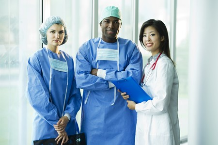 Multi-ethnic medical team Stock Photo - 8180374