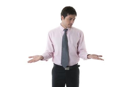 Businessman With Palms Up, you can add your own product photo